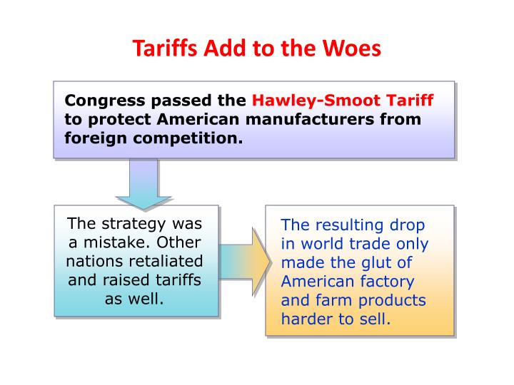 The strategy was a mistake. Other nations retaliated and raised tariffs as well.