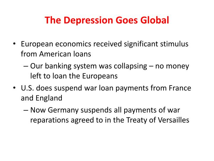 The Depression Goes Global
