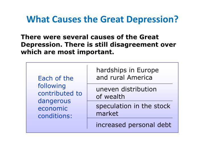 What Causes the Great Depression?