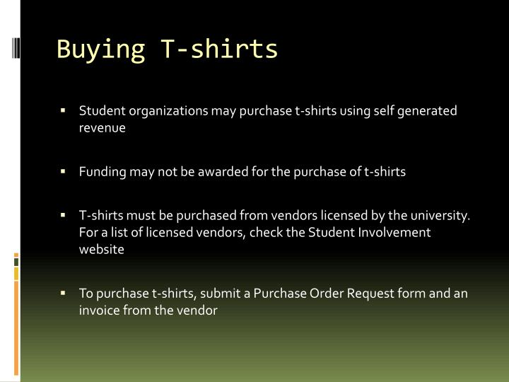 Buying T-shirts