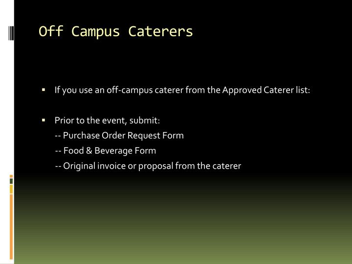 Off Campus Caterers