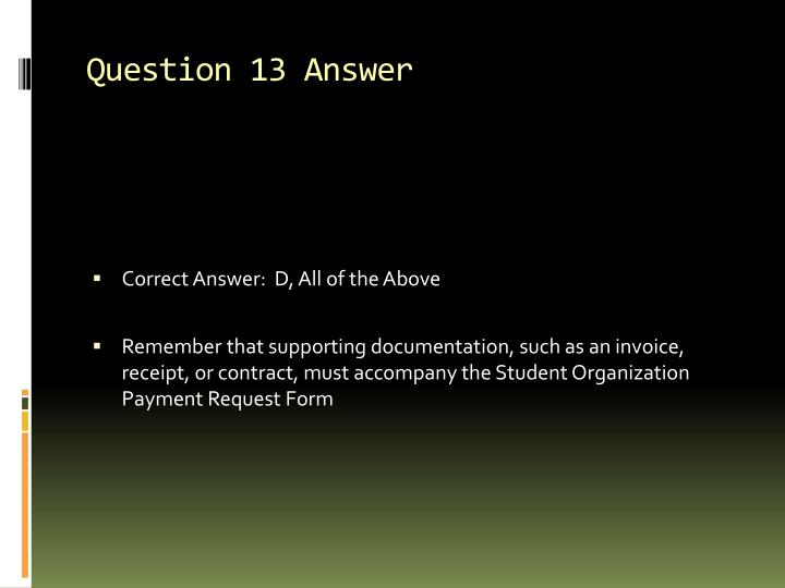 Question 13 Answer