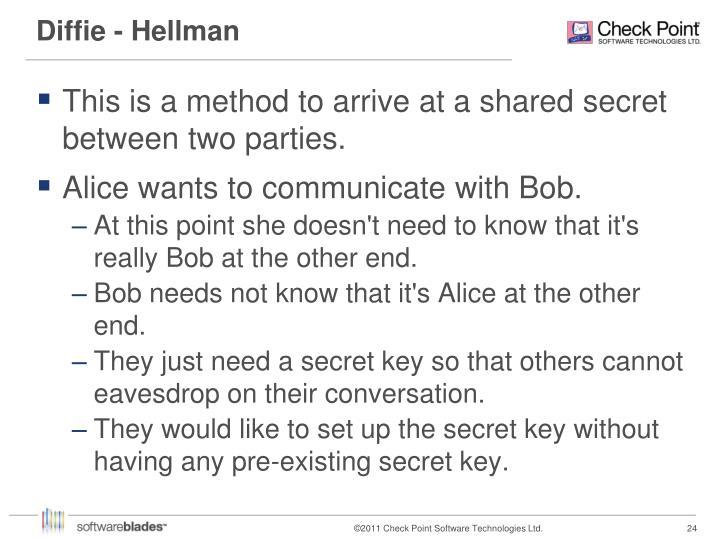 Diffie - Hellman