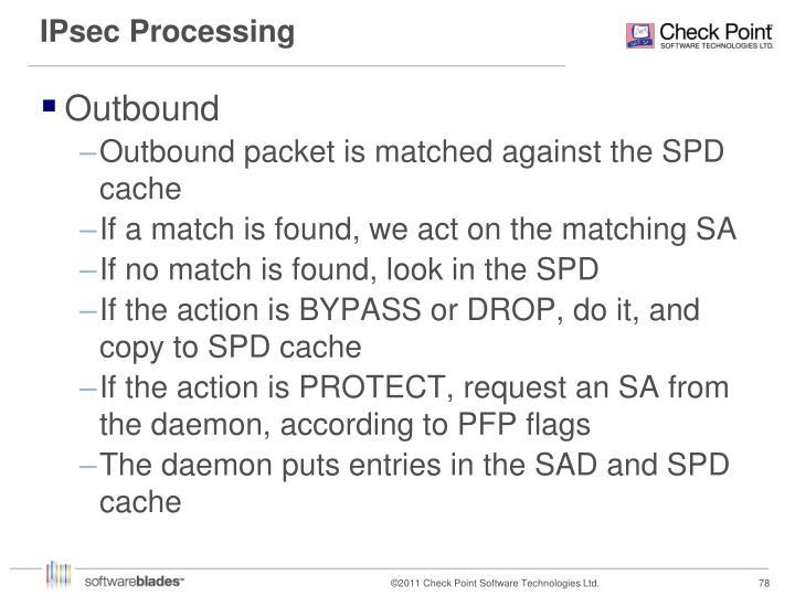 IPsec Processing