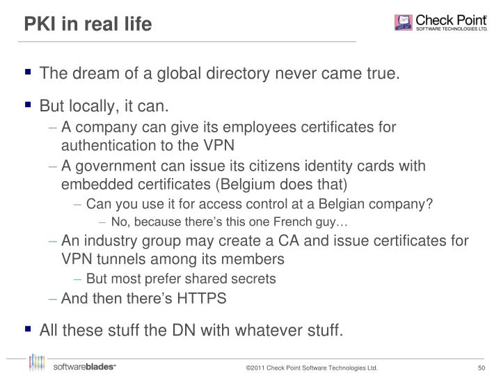PKI in real life