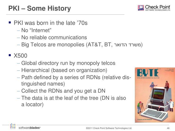 PKI – Some History