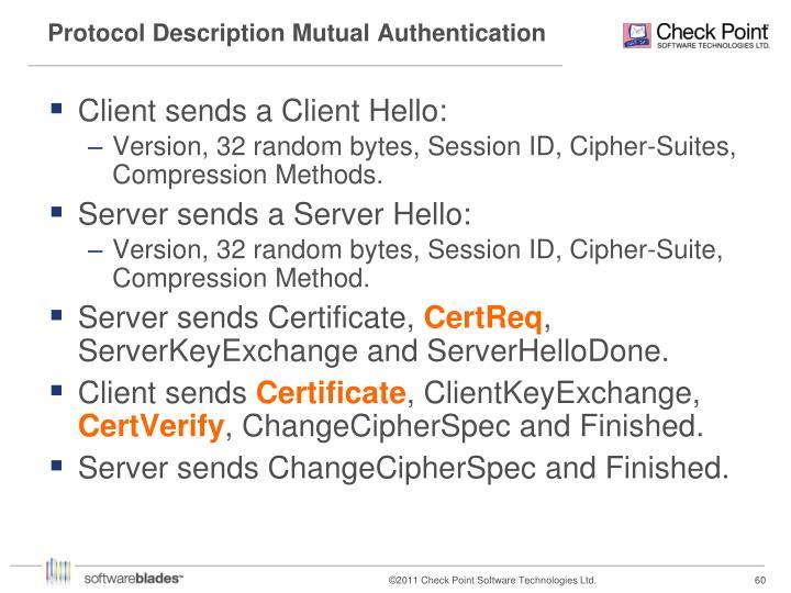 Protocol Description Mutual Authentication