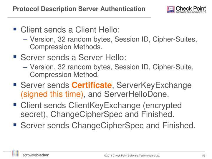 Protocol Description Server Authentication