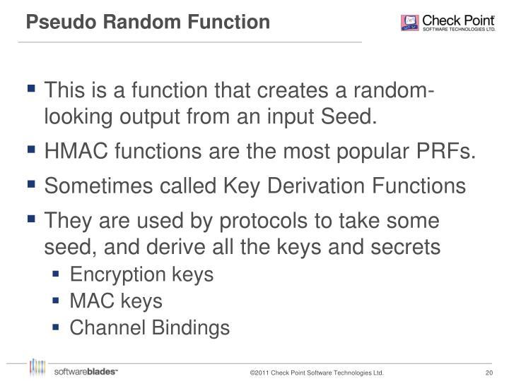 Pseudo Random Function