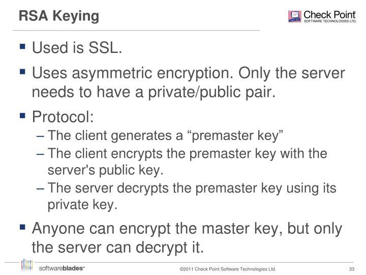 RSA Keying