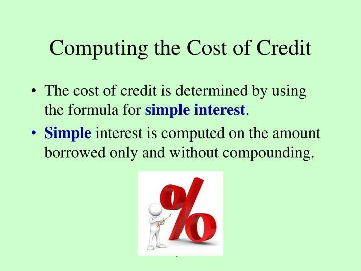 Computing the Cost of Credit