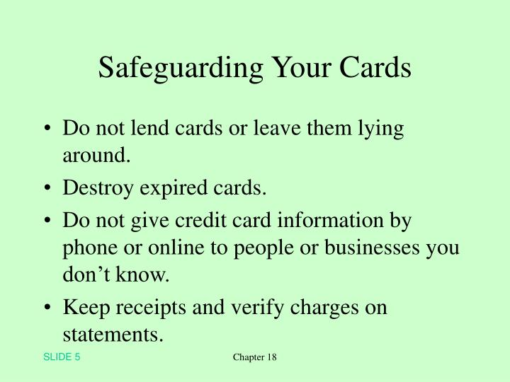 Safeguarding Your Cards