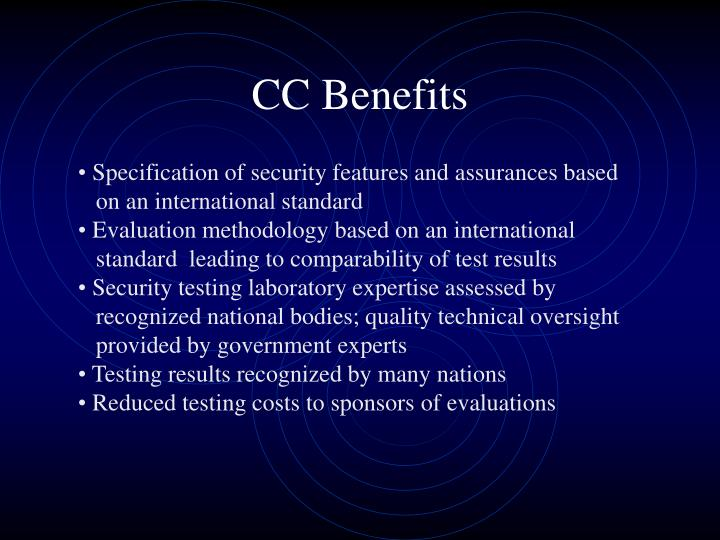 CC Benefits