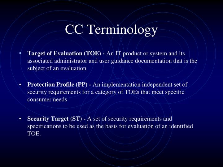 CC Terminology