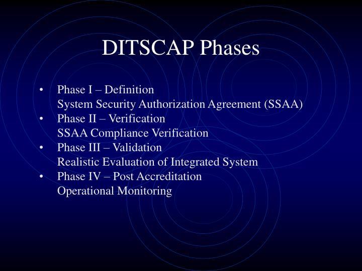 DITSCAP Phases