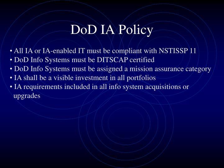 DoD IA Policy
