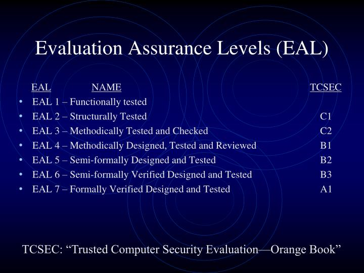 Evaluation Assurance Levels (EAL)