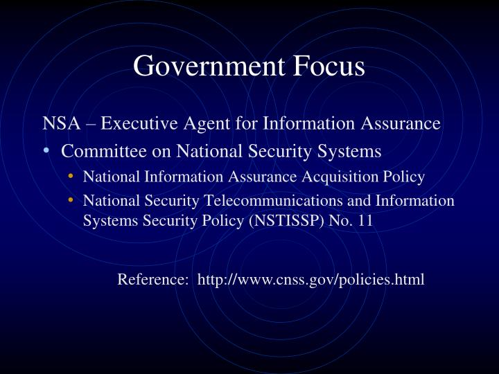 Government Focus