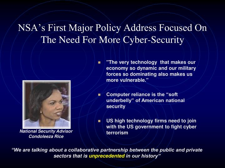 NSA's First Major Policy Address Focused On The Need For More Cyber-Security