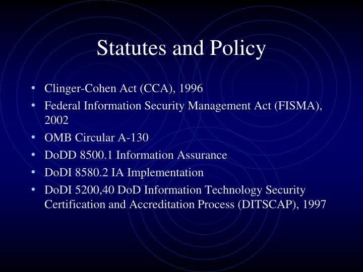 Statutes and Policy