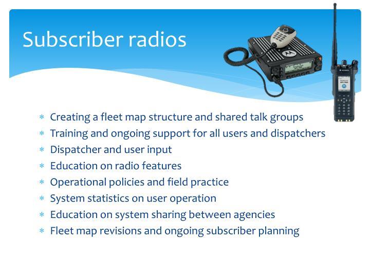 Subscriber radios