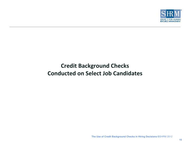 Credit Background Checks
