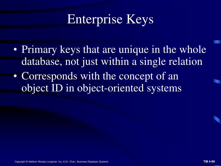 Enterprise Keys