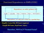 functional dependencies in employee2