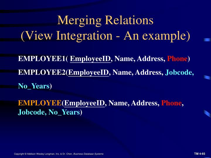 Merging Relations