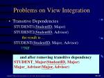 problems on view integration2