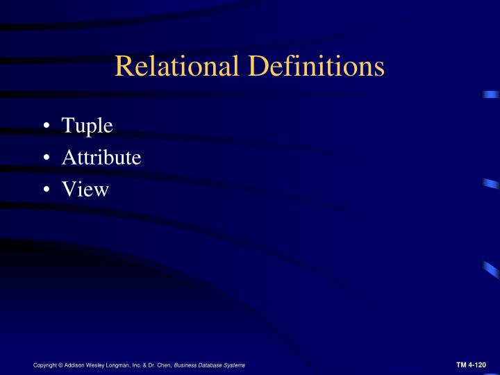 Relational Definitions