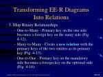 transforming ee r diagrams into relations1