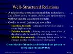 well structured relations1