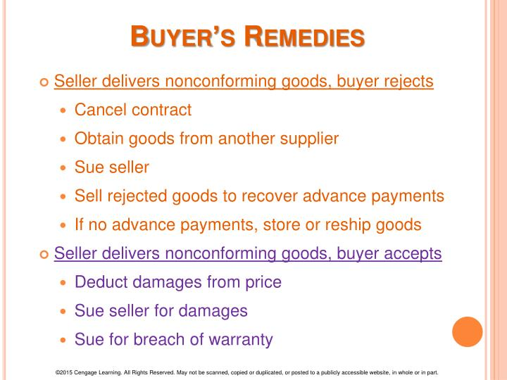 Buyer's Remedies