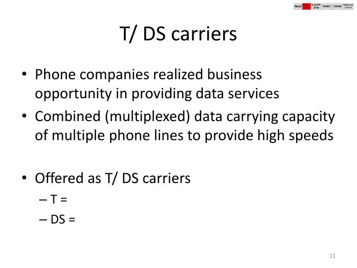 T/ DS carriers