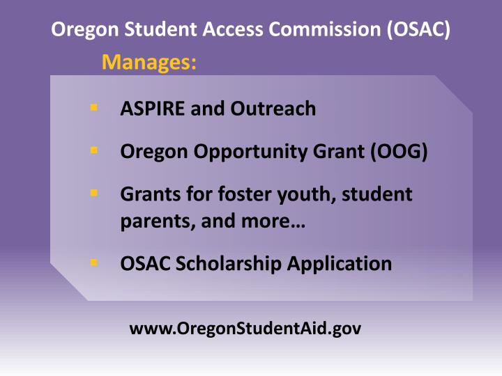 Oregon Student Access Commission (OSAC)