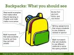 backpacks what you should see