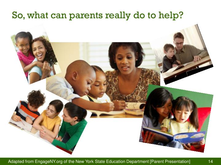 So, what can parents really do to help?