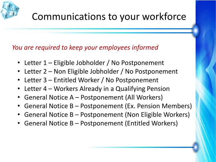 Communications to your workforce