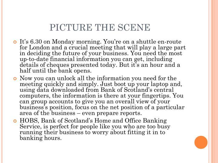 PICTURE THE SCENE