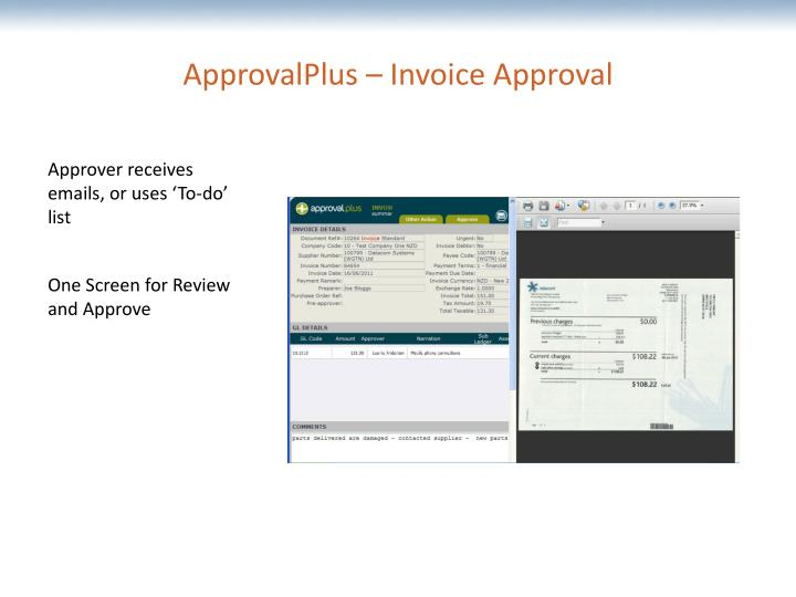 ApprovalPlus – Invoice Approval