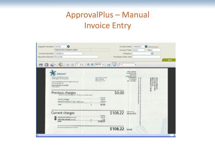 ApprovalPlus – Manual
