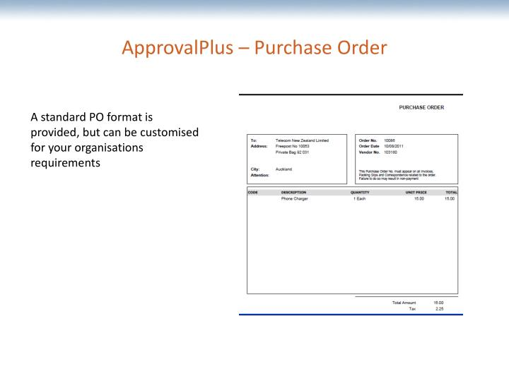 ApprovalPlus – Purchase Order