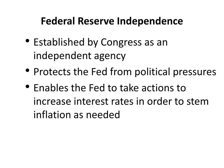 Federal Reserve Independence