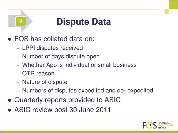 Dispute Data
