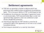 settlement agreements