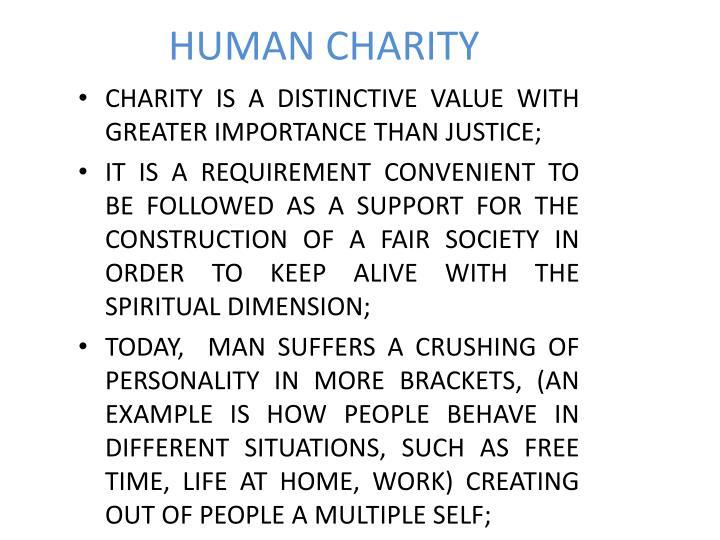 HUMAN CHARITY