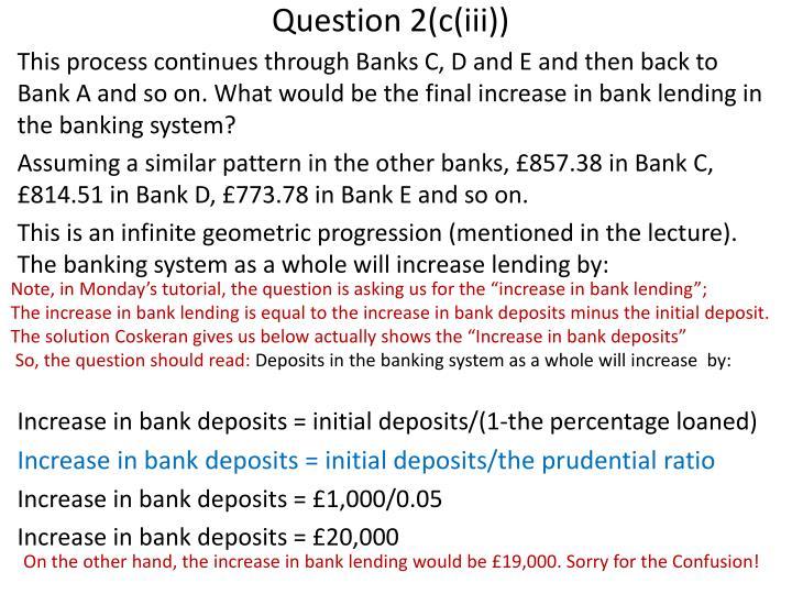 Question 2(c(iii))