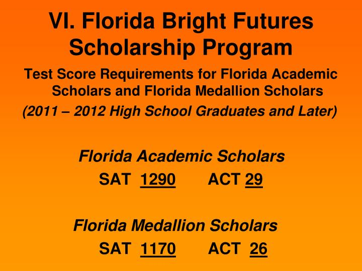 florida bright futures essay Bright futures student handbook: chapter 1 1 florida financial aid application • complete an extended essay.