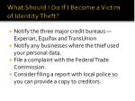 what should i do if i become a victim of identity theft
